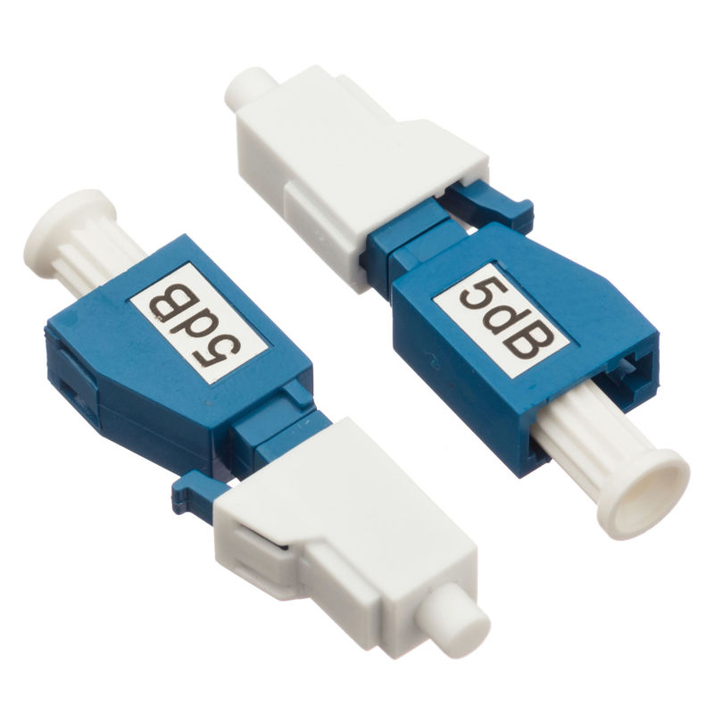 Simplex Single Mode Attenuator LC / PC Plug Fixed Type  5dB For CATV / Datacom